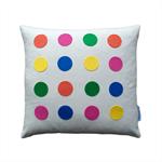 Decorative cushion colourful dots , retro cool design