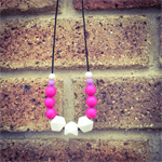 Pink/Beige Teething Necklace