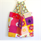 Large Market Carry Bag - Honey Bees on Bright Squares