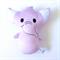 Purple Elephant Rattle Toy