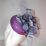 Purple Haze.SALE  fascinator headpiece spring summer purple mauve black net