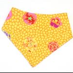 Yellow floral baby bandana bib babies dribble bibs girls flower shabby