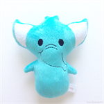 Aqua Blue Elephant Rattle Toy
