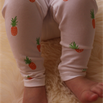 Pineapple Leggings| Baby Girl Leggings | Baby Boy Leggings | Hand Stamped Pants