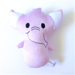 Purple Elephant Rattle Toy