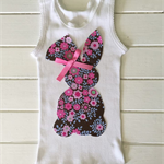 Girls easter bunny singlet