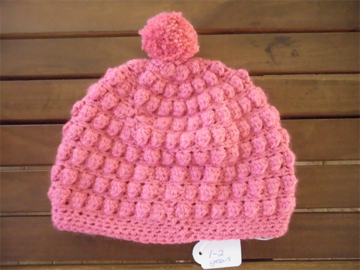Crochet Bobble Stitch Beaniehat Size 1 2 Year Old Nanna Knits
