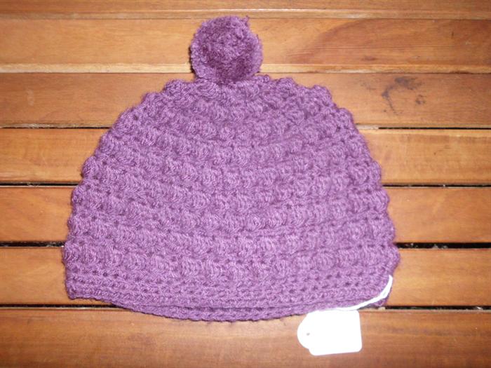 Crochet bobble stitch beanie hat Size 1-2 year old.  bf31fd5c12f