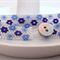 Daisy Cuff Bracelet - Blue