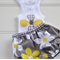 Singlet and bloomers - grey, yellow, white, flowers, baby shower