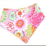 Floral baby bandana bib pink babies dribble bibs girls roses flower shabby
