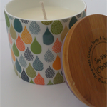 Soy Wax Candle Cannister Autumn Colours -Coconut Lime