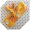 Retro floral head band yellow pink & orange cotton 