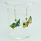 Mini Rabbits Origami Earrings with Swarovski Crystals-Sterling Silver