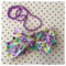 Purple fields headband cotton wrap bow green Aqua baby toddler kids adult