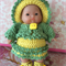 "5 inch Berenguer Baby ""Pineapple Sunshine Girl"" Crochet Outfit  & Doll"