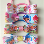 Lalaloopsy Variety 4 pack Hair Bow Elastic Hair Ties