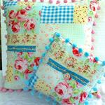 """"""" Sweet Cottage Patchwork""""  Floral Twin Cushion Set"""""""