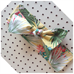 Lemon Tropical headband bow knot baby toddler summer modern floral