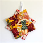 2 x Reversible Pot Holders - Tropical Pin-up girls with red boho flowers