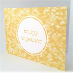 Wedding Card Happy Together Gold Glitter