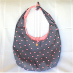 Casual Carry Bag: Grey with Pink Spots