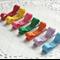 Rainbow clip set