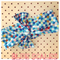 Blue fish scale rainbow fabric headband/head wrap baby kids toddler adult bow.