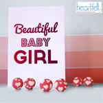 Heartfelt Fundraiser pink hearts fabric button earrings
