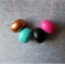 Ladies 4 bead wooden Abacus necklace. Spring break.