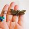 Dragonfly Kilt Pin with sparkling Swarovski Heart