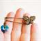 Heartfelt Fundraiser, Swarovski crystal heart kilt pin with butterfly