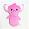 Pink Elephant Rattle Toy