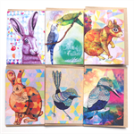Drawstring Greeting Card Collection - includes 6 cards