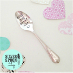 Hand stamped vintage spoon - marry me proposal spoon