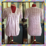 Size medium mauve women's crocheted top