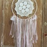 Pink & White Nursery  Dream Catcher / Mobile