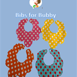 Reversable polka dot, Flower shaped Bibs