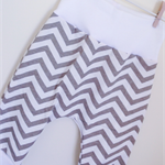 comfy butt baby harem pants in grey chevron