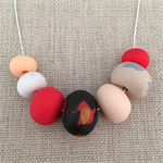 'Fire Starter' Polymer Clay Necklace