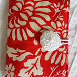 Travelling Tea Bag Wallets - Red and White. Teacher Gifts, Mother's Day.