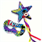 Superhero Mask and magic ribbon wand set - girl power