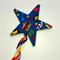 Superhero blue comic words. Pow. Bam. magic ribbon star wand
