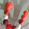 Heartfelt Fundraiser - Silicone Teething Necklace 'Its all about Red'