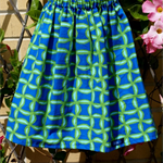 Size 10 Cotton geo pinwheels girls' skirt - suit small adult too!