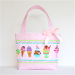 Mini Tote Bag for Little Girls - Pink Ice Cream