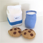 Milk and Cookies Felt Play Food