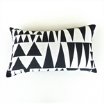 Black Triangles on White Cushion Cover