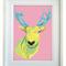 Stag/Deer - A4 geometric modern art print -