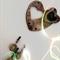 Handmade Stoneware Chimes. Wall Hanging. Pottery. Gemstones.